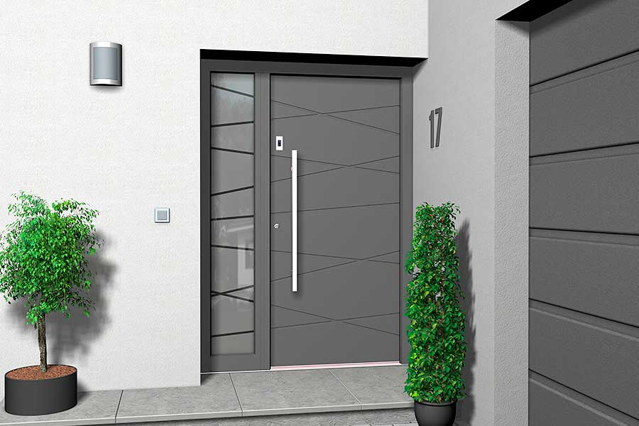 Holz-Aluminium Haustüren Modern von Variotec